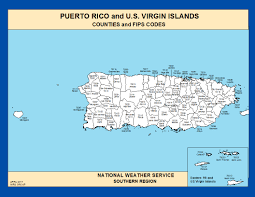 Map Of Puerto Rico Maps Puerto Rico Counties And Fips Codes