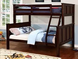 zachary twin over full bunk bed in dark walnut