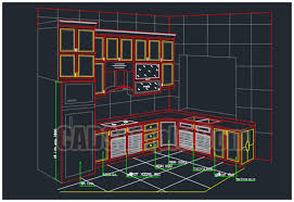 Kitchen Cabinet Drawing New Kitchen Cabinet Drawing Dwg Cadsample Com