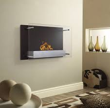 enchanting modern wall ethanol fireplace ideas at nice bright wall