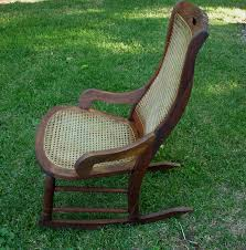 Outdoor Wood Rocking Chair Antique Rocking Chair Wood And Cane Seat Local Pick Up Or