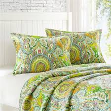 Twin Quilts And Coverlets Echo Taj Reversible Twin Coverlet Quilt U0026 Sham Set Free Shipping