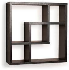 Wooden Wall Shelves Design by Geometric Square Wall Shelf With 5 Openings Contemporary