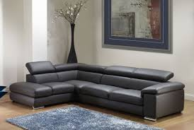 Modern Black Leather Sofas Omega Modern Black Leather Sectional Sofa S3net Sectional