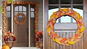 fall garland front door fall garland and wreath
