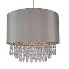 silver pendant light shade modern easy fit drum shade silver fabric ceiling pendant light shade