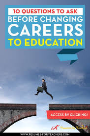 Changing Careers Resume 210 Best Career Change From Education To Business Sector Images On