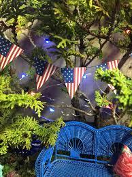 Mini Garden Flags July 4th Diy Mini American Flag Banner For Miniature Garden Or