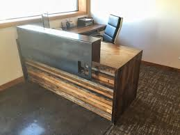 Wooden Table L Office Desk Reclaimed Dining Table Reclaimed Wood And Metal Desk