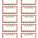 free christmas gift tag template word template idea with