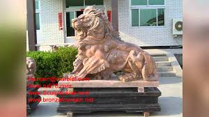 Outdoor Lion Statue by Bronze Lion Statues Youtube