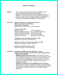Computer Science Resume Examples Programmer Resume Example Programmer Resume Sample You Have To