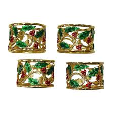 christmas napkin rings table linens festive christmas table napkin rings