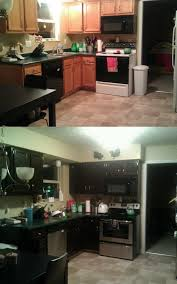 Stain Oak Cabinets Staining Boring Oak Cabinets A Rich Dark Color With Photos