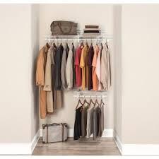Closetmaid Shelf Track System Closetmaid Shelftrack 2 Ft To 4 Ft White Wire Closet Organizer