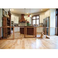 Laminate Flooring For Dogs Pet Gates For Dogs Convertible Elite 6 Panel Pet Gate