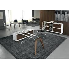 Bureau Verre Design Contemporain - bureau verre design contemporain bureau en verre avec retour