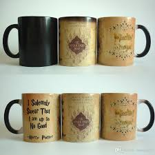 Color Changing Mugs New Arrive Harry Potter Magic Mugs Marauders Map Mug Mischief