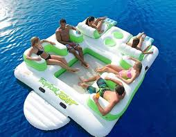 Inflatable Pool Floats by Floating Island 6 Person Inflatable Lounge Raft Pool Lake Water