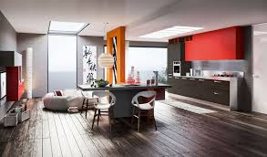 Modern Gray Kitchen Cabinets by Kitchen Modern Gray Red Kitchen Cabinet With Light Fixtures Also