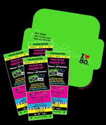 80 party invitations printable 80 u0027s party ticket invitations u0026 envelope