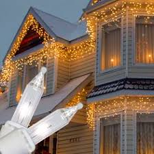 White Icicle Lights Outdoor 100 Warm White Outdoor Led Battery Icicle Lights With Timer
