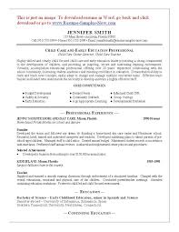 Resume Samples For Caregiver by Child Care Supervisor Cover Letter
