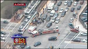 light rail baltimore md car collides with mta light rail train in baltimore cbs baltimore