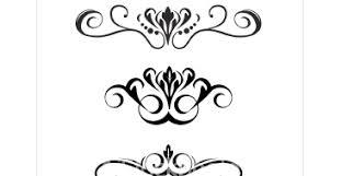 ornamental clipart scroll pencil and in color ornamental clipart
