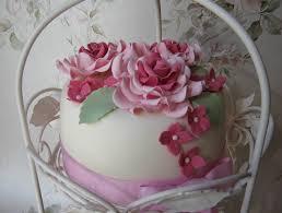 Pink Vintage Rose Birthday Cake Carrot Cake With An Orange U2026 Flickr