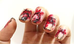 halloween nails easy and scary bloody halloween nail look