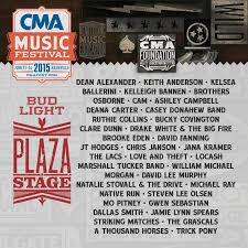 artists announced for free concerts during cma music festival