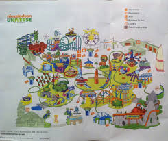 Knotts Berry Farm Map Photo Trip Report Nickelodeon Universe Theme Park Review