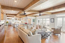 transitional style ceiling fans beach style living room with white window trim transitional ceiling fans