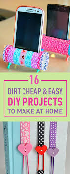 easy diy projects for home 16 dirt cheap easy diy projects to make at home new craft works