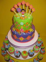 aaliyah u0027s dora birthday cake u0026amp cupcakes