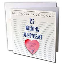 1st wedding anniversary gifts popular anniversary cards for 3drose 1st wedding anniversary