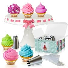 Baking Decorating Amazon Com Cupcake Decorating Kit The Perfect Cupcake By