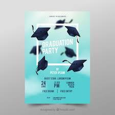 graduation poster graduation party poster vector free