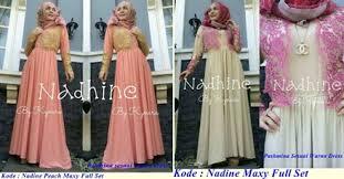 Baju Muslim Grosir grosir baju muslim nadine maxy set series pabrik baju rajut