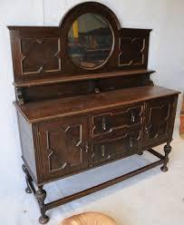 English Oak Sideboard Oak Jacobean Style Mirror Back Sideboard Sideboards Antique
