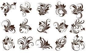 floral ornaments element vector free vector images vector me