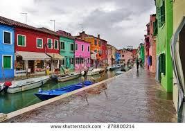 Burano Italy Colorful Houses Burano Island Near Venice Stock Photo 422228674