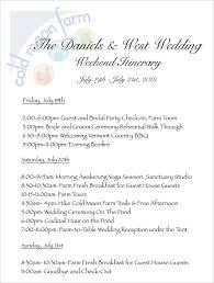 Destination Wedding Itinerary Template Wedding Weekend Itinerary