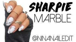 marble nails with a sharpie marker youtube