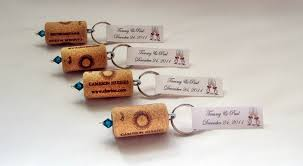 wedding shower favors ideas wine cork keychain favors great wedding or bridal shower