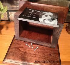pet urn custom made cremation urns for pets oak and laser etched granite