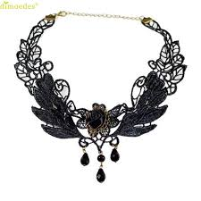 choker necklace with charms images Buy diomedes newest necklace jewelry black rose jpg