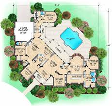 Plans For A 25 By 25 Foot Two Story Garage Luxury Style House Plans 5108 Square Foot Home 1 Story 3