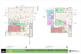 volunteer fire station floor plans university heights branch renovation heights libraries